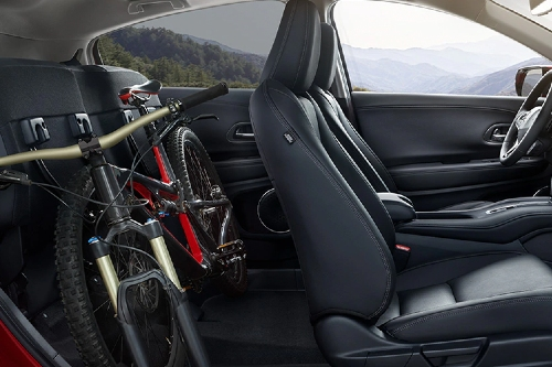 2020 HR-V cabin showcase with bike in back seat