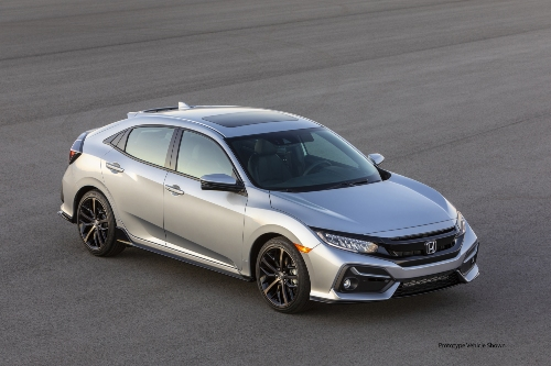 2021 Civic parked on runway