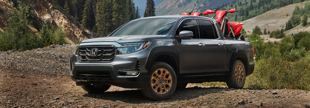 2021 Ridgeline parked in the mountains