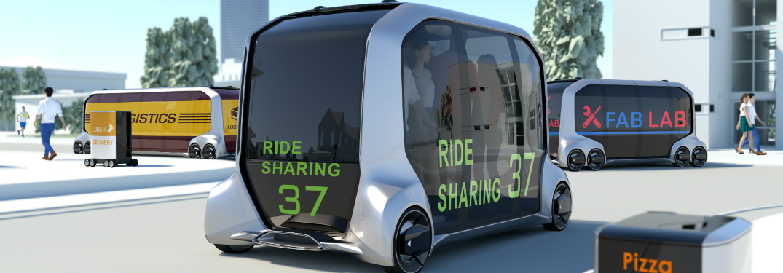 Toyota e-Palette Concept Vehicle close mock up
