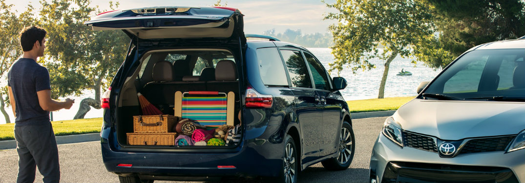 2018 Toyota Sienna filled with gear and luggage