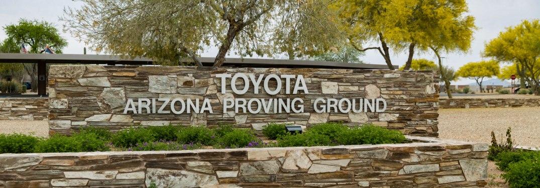 Toyota Arizona Proving Ground sign