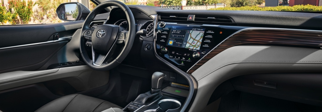 Front interior of the 2018 Toyota Camry