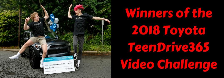Winners of the Toyota TeenDrive365 Video Challenge
