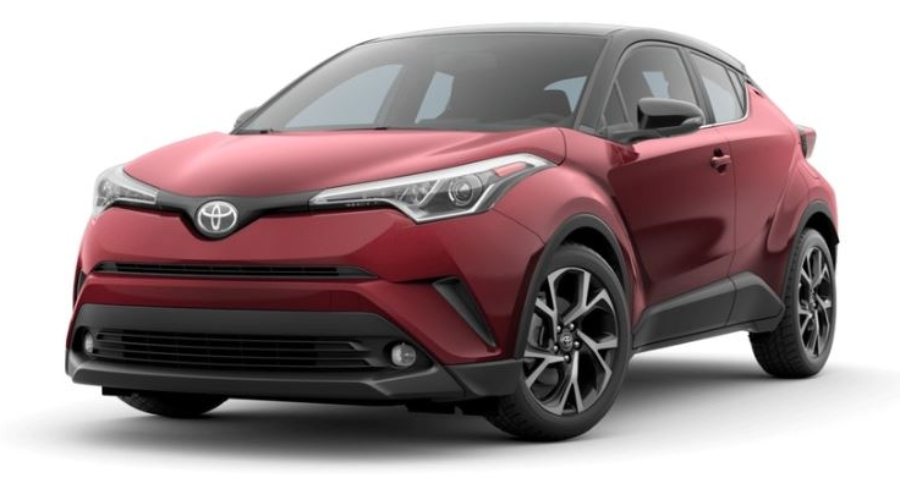 2019 Toyota C-HR in Ruby Flare Pearl R-Code Black