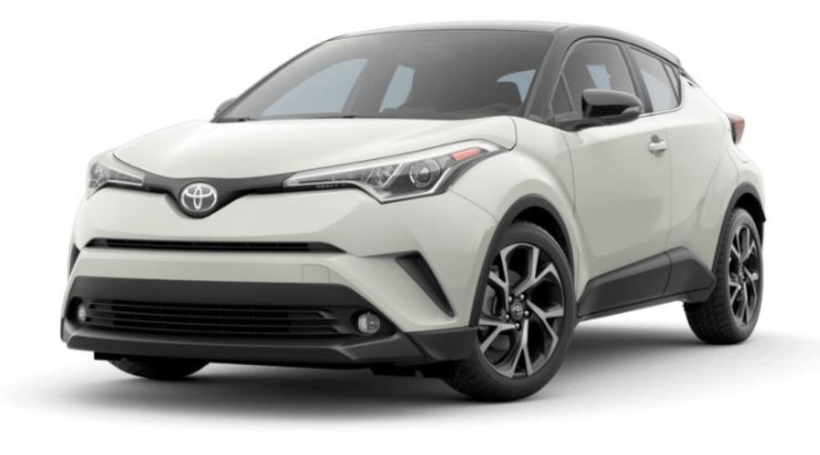 2019 Toyota C-HR in Blizzard Pearl R-Code Black