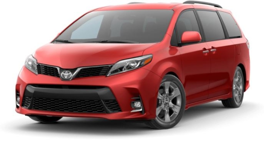 2019 Toyota Sienna in Salsa Red Pearl