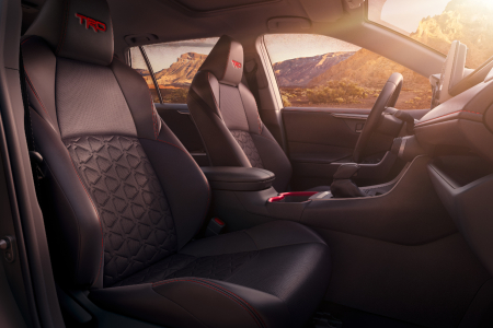 Interior seating of the 2020 Toyota RAV4 TRD Off-Road