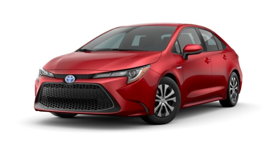 2020 Toyota Corolla Hybrid in Barcelona Red Metallic