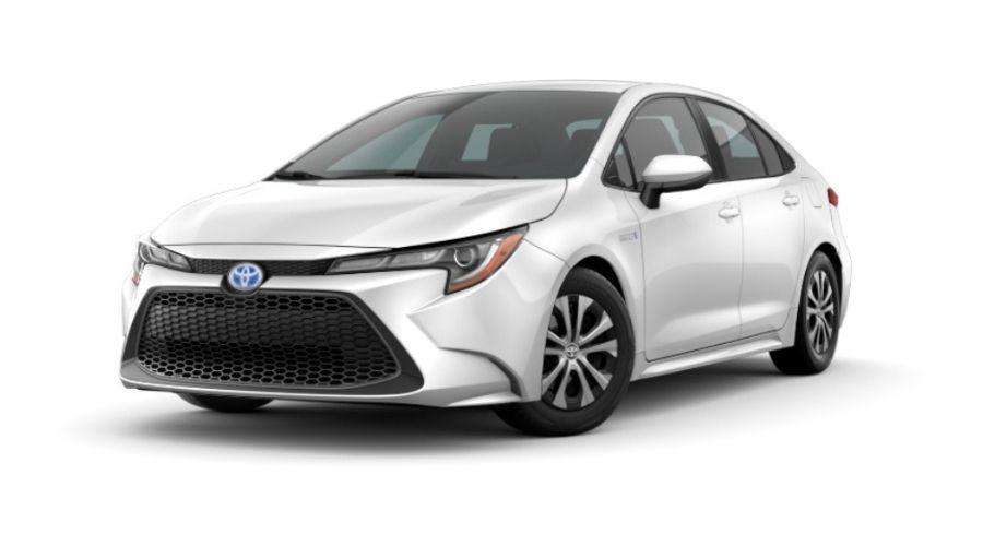 2020 Toyota Corolla Hybrid in Super White