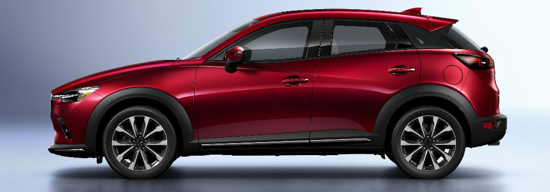 2019 Mazda CX-3 side view in red