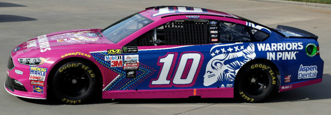 Danica Patrick Debuts No. 10 Ford Warriors in Pink Fusion Race Car