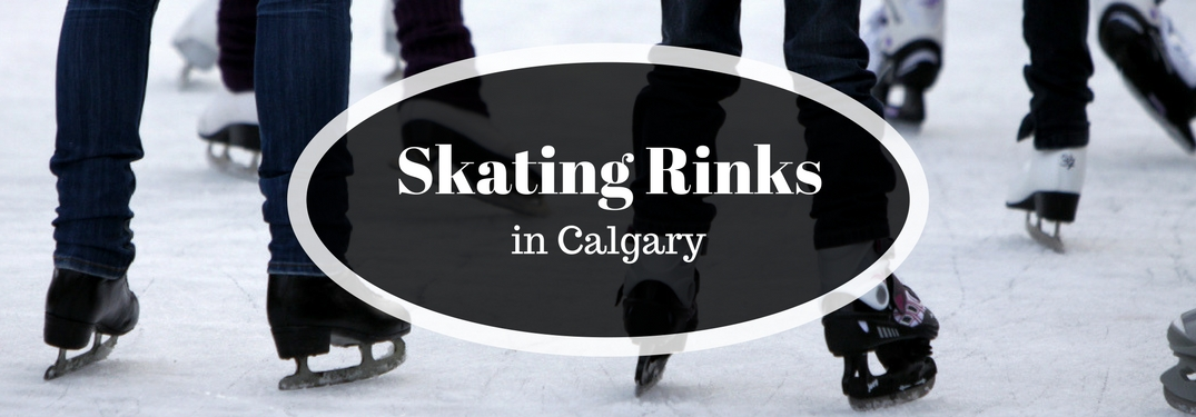 Skating Rinks in Calgary Title and People Ice Skating