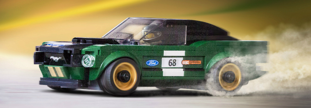 LEGO Creates a Vintage 1968 Ford Mustang Fastback Race Car Set