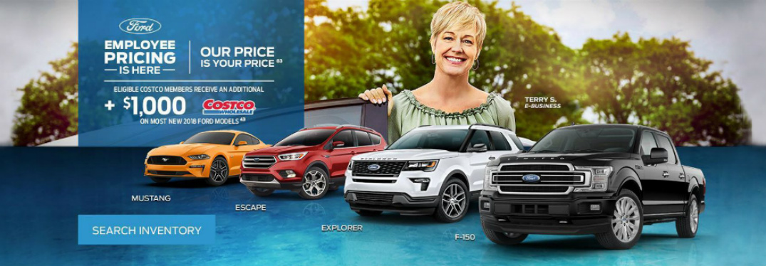 Details of Marlborough Ford Employee Pricing Special and Four Ford Vehicles