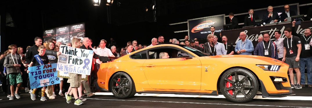 2020 Ford Mustang Shelby GT500 at an auction to raise funds for the Juvenile Diabetes Research Foundation