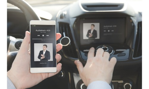 Pairing a phone with a car display