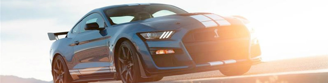 2020 Ford Mustang Shelby GT500 at sunset