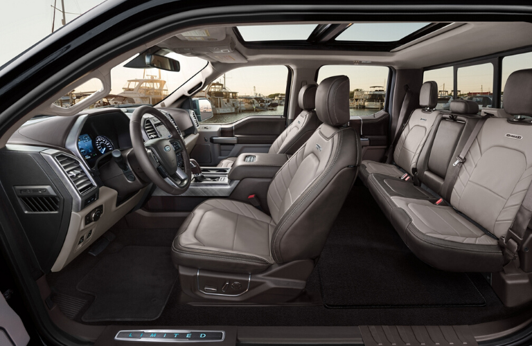 2020 Ford F-150 side view of interior