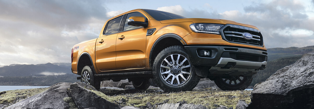2020 Ford Ranger parked on land