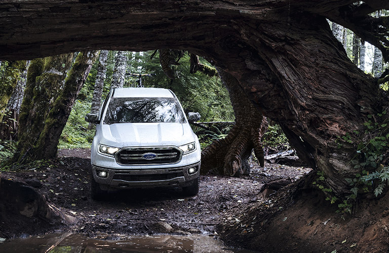 2020 Ford Ranger front view on trail
