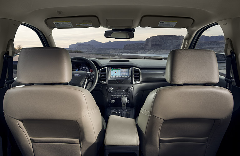 2020 Ford Ranger interior view