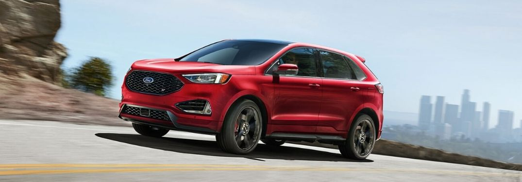 2020 Ford Edge driving on the room