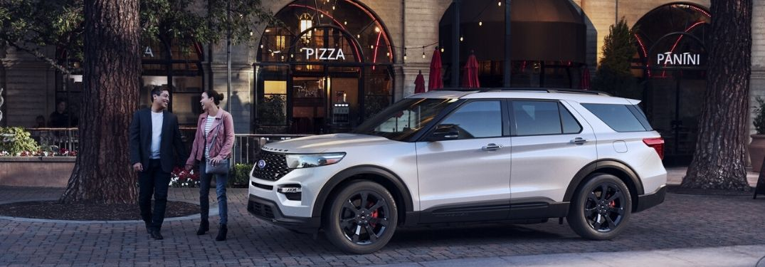 2020 Ford Explorer parked on the curb