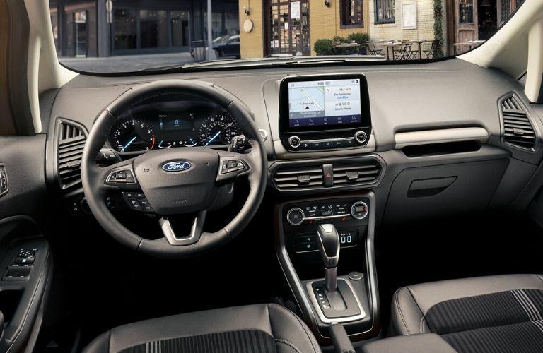 2020 Ford EcoSport interior dash and wheel