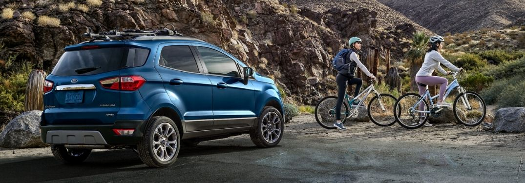 2020 Ford EcoSport parked by rocks