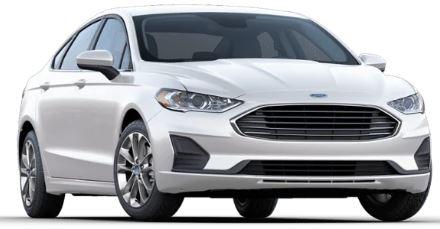 2020 Ford Fusion White Platinum