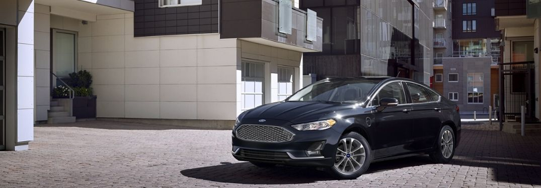 2020 Ford Fusion parked outside near wall