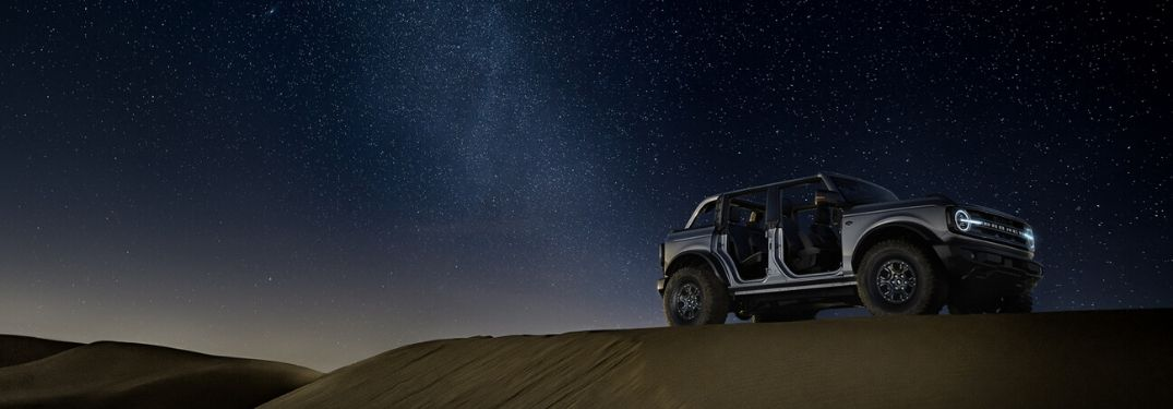 2021 Ford Bronco parked under the stars