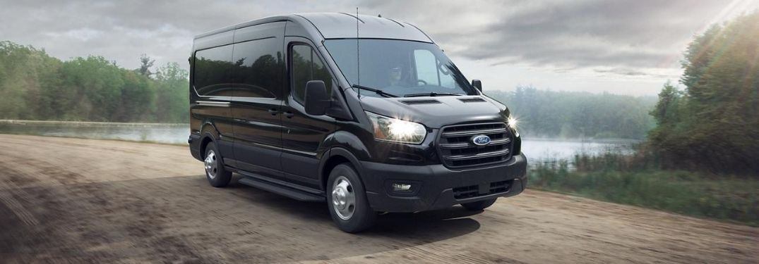 2020 Ford Transit driving on the road