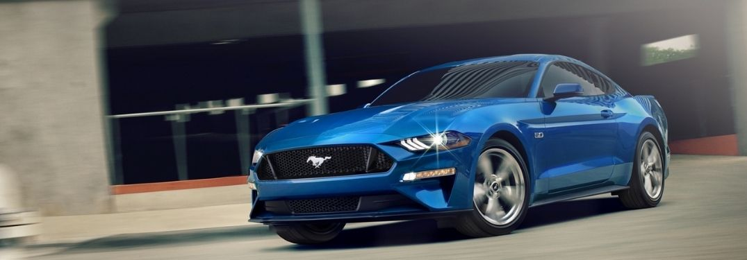 2020 Ford Mustang parked outside exterior view