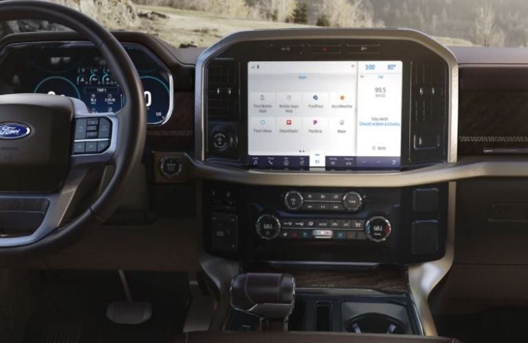 2021 Ford F-150 touchscreen interior