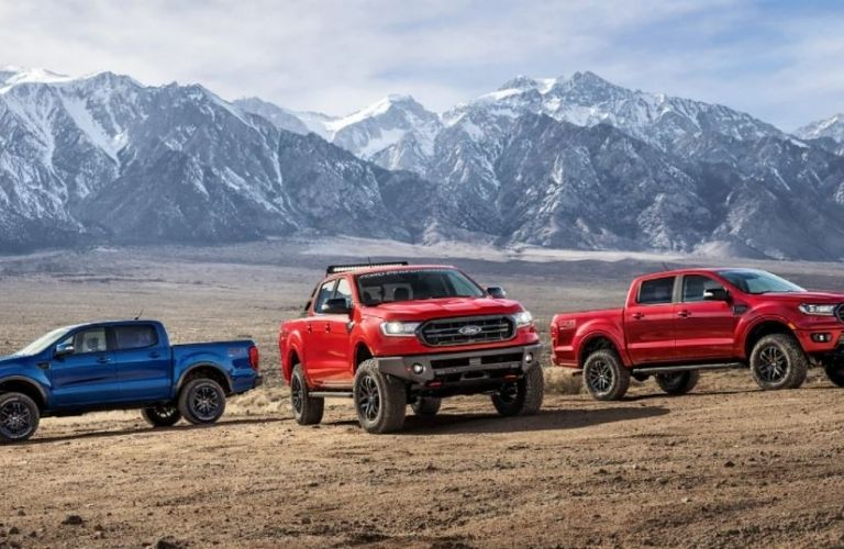 2020 Ford Rangers parked outside