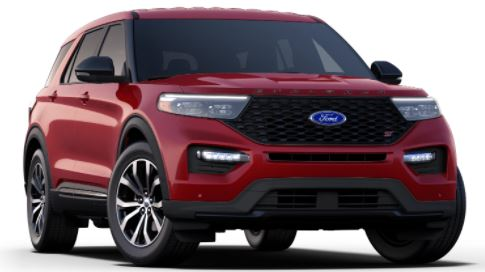 2021 Ford Explorer Rapid Red