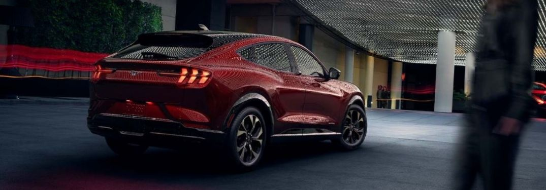 2021 Ford Mustang MACH-E rear view parked