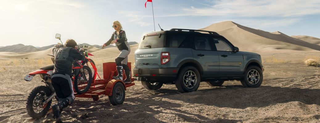 2021 Ford Bronco Sport SUV on sand