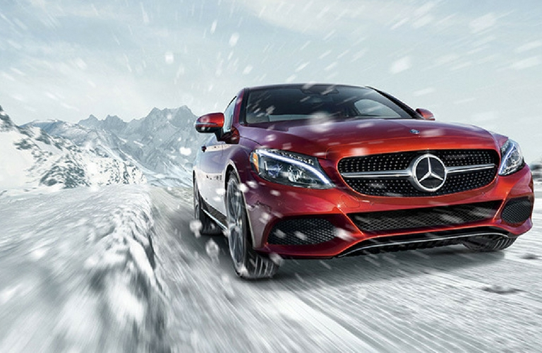Mercedes-AMG C 63 in the snow