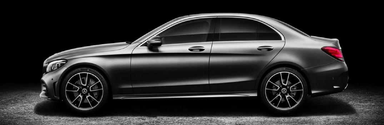 2019 Mercedes-Benz C-Class Sedan on black background