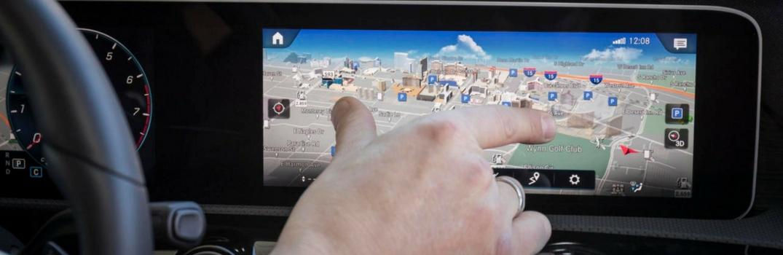 MBUX navigation system on Mercedes-Benz A-Class