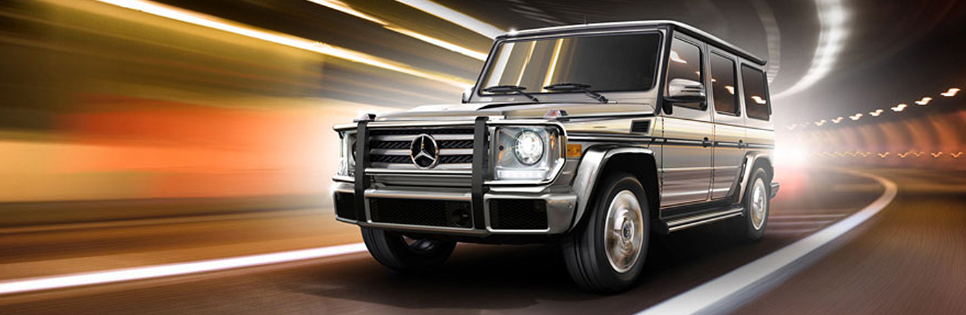 ... Gray 2018 Mercedes Benz G Class Driving Through A Tunnel With Blurred  Lights.