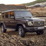 The new Mercedes-Benz G-Class on gravel