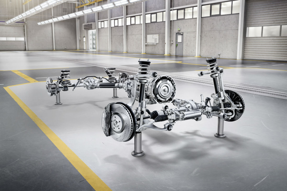 The frame of the 2019 Mercedes-Benz G-Class