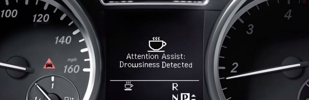 driver's display in a Mercedes-Benz