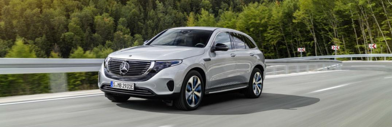 Mercedes-Benz EQC on the road