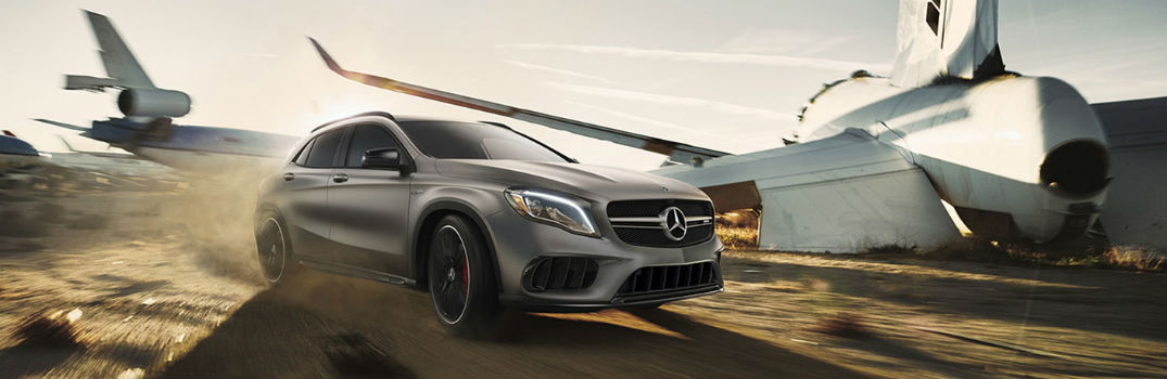 2019 Mercedes-Benz GLA driving through a desert