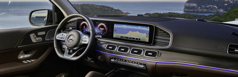 front interior of the 2020 Mercedes-Benz GLS